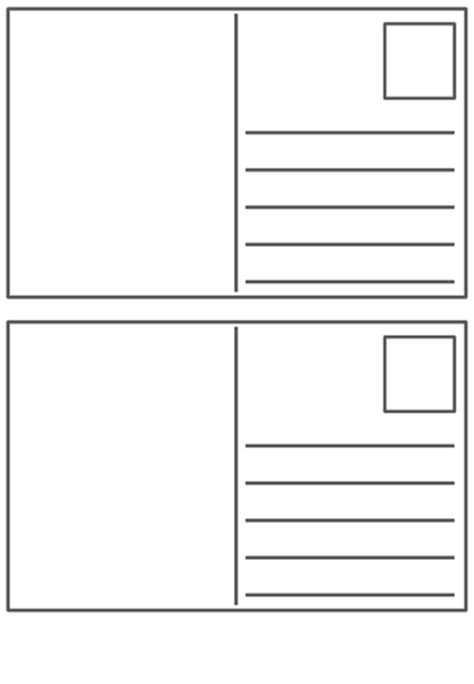 Postcard Templates Blank Postcard Template By Peaches1980 Teaching