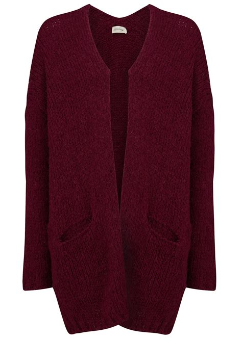 plum sweater vintage boolder knitted cardigan plum