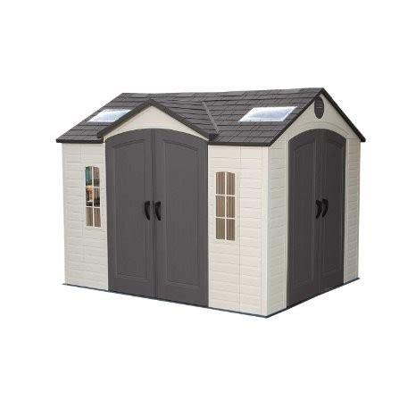 lifetime shed 10x8 assembly lifetime 10 x 8 dual entrance plastic shed