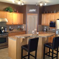 maple kitchen cabinets and wall color ideas for our