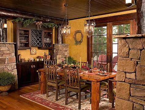 cottage  lodge style craftsman dining room