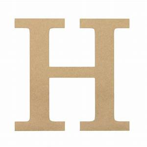 10quot decorative wood letter h ab2032 craftoutletcom With decorative letter h