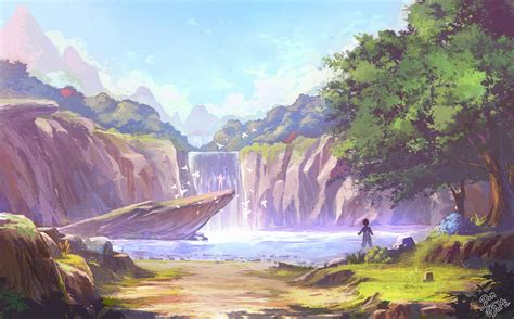 You may also find your favorite wallpaper · illus! Anime Waterfall Wallpapers - Wallpaper Cave