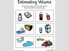 Estimating Volume Printable worksheets, Worksheets and