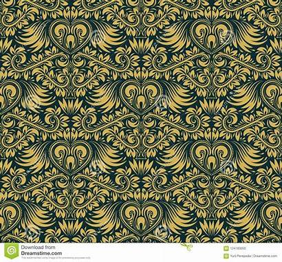 Damask Repeating Baroque Seamless Ornament Floral Pattern