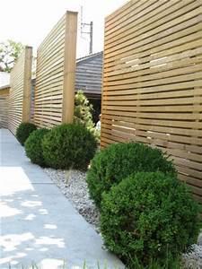 10 meilleures idees a propos de panneaux en bois sur With amenagement exterieur jardin moderne 5 brise vue aluminium moderne jardin angers par