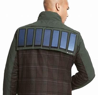Solar Jacket Panel Wearable Jackets Gadgets Outdoors