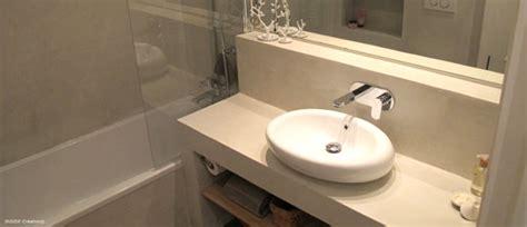 renovation plan de travail cuisine carrelé inside création créateur de salle de bain en béton ciré