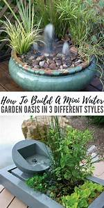 How To Build A Mini Water Garden Oasis In 3 Different Styles