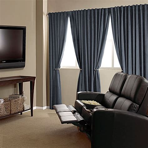 home theater curtains absolute zero velvet blackout home theater curtain panels