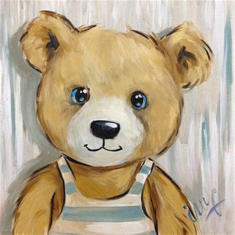 tableau ourson chambre bébé peinture ourson tagre vente peinture ourson pour enfants