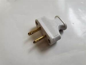 New Vintage White Antique Style Electrical Plug For Cloth