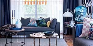 Salon Gris Bleu : salon bleu nos plus belles inspirations marie claire ~ Melissatoandfro.com Idées de Décoration