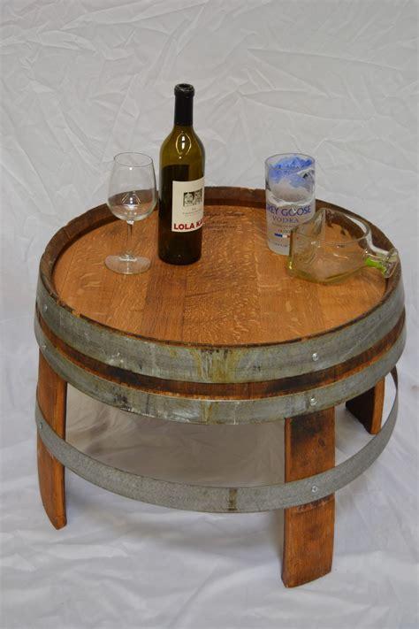 barrel side table   wine barrel furniture