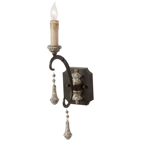 Country Sconces - epoch country iron grey single wall sconce pair