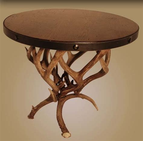deer table l mule deer antler end table western cocktail and end tables
