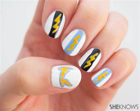 San Diego Chargers Manicure Tutorial