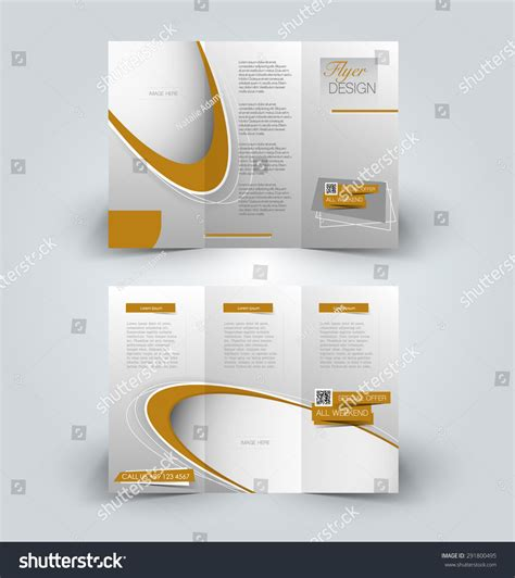 Brochure Vector Mock Up Template Millions Vectors Brochure Mock Up Design Template For Business Education