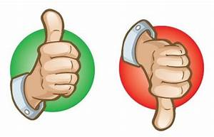 Thumbs Up Thumbs Down Clipart - Clipart Suggest