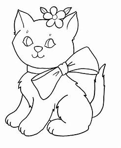 Cute Kitten Coloring Pages Coloring Home