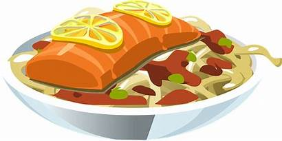 Fish Salmon Clipart Meal Italian Dishes Lemon