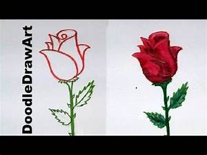 Drawing: How To Draw a Rose step by step - easy lesson for ...