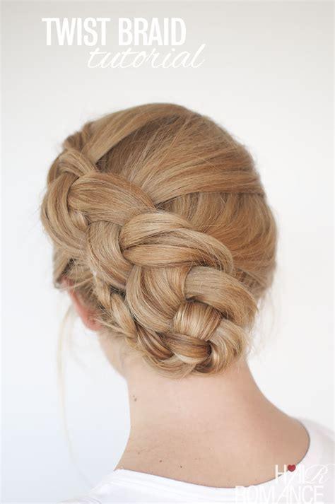 New braid hairstyle tutorial   the twist braid updo   Hair