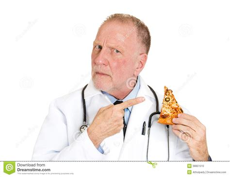 dr cuisine 39 s advice don 39 t eat bad food stock photo image