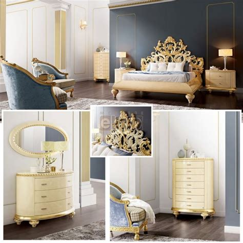 Chambre Baroque Moderne - awesome chambre baroque beige et or venezia with chambre
