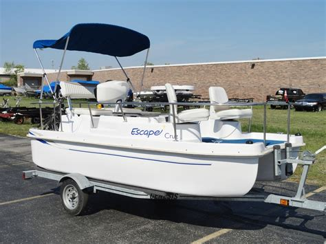 Electric Boats For Sale Ebay by Used Escape Electric Pontoon Deck Boat 2004