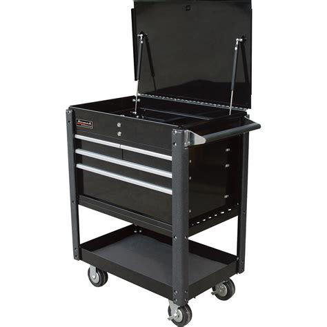 4 drawer tool cart homak 4 drawer industrial service cart black model