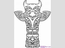 native american coloring pages totem pole coloring pages