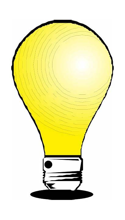 Bulb Clip Animated Clipart Cartoon Flashing Led