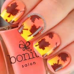 Autumn gel nail art designs ideas fall nails
