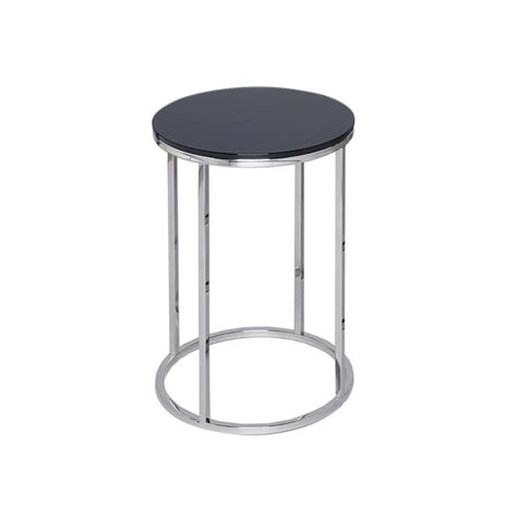 black and silver table ls buy black glass and silver metal side table from fusion living