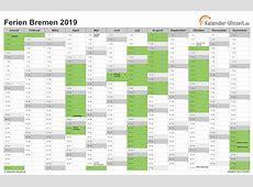 Ferien Bremen 2019 Ferienkalender zum Ausdrucken