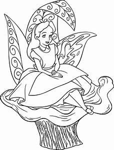 Coloriage Alice Disney Imprimer