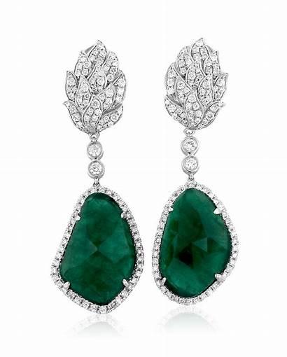 Emerald Earrings Jewelry Diamond Designs Yael Cut