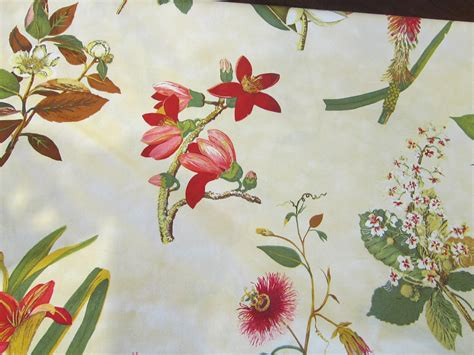 botanical print fabric decorator fabric 5 125 yards botanical print by theartfloozy