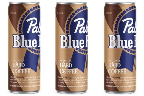 Can, pbr hard coffee features the classic pbr logo, but swaps the red and white stripes for shades of brown. Pabst Blue Ribbon Is Combining Caffeine and Booze with a New Hard Coffee
