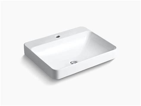 kohler vox vessel sink k 2660 1 vox rectangle vessel sink with single faucet