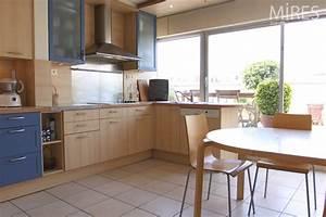 grande cuisine bois clair c0589 mires paris With cuisine en bois clair