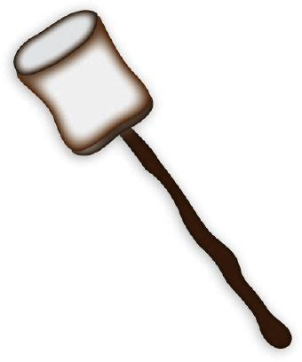 marshmallow on a stick clipart pics for gt marshmallow clipart black and white cfire