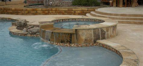 circular raised spa wrapped  flagstone  flagstone