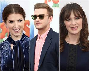 Anna Kendrick, Justin Timberlake and Zooey Deschanel ...