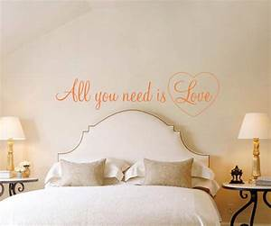 Romantic all you need is love quote wall art decal vinyl