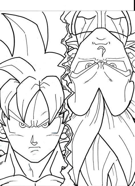 Goku Kleurplaat by Goku God Free Coloring Pages
