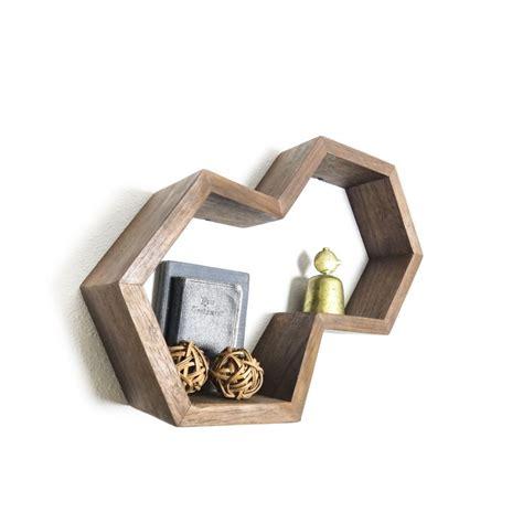 Dual Hexagon Shelf Tung Oil Honeycombs And Shelves