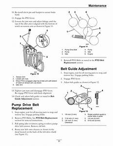 Pump Drive Belt Replacement  Belt Guide Adjustment