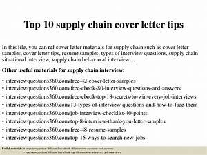 top 10 supply chain cover letter tips With cover letter for supply chain management